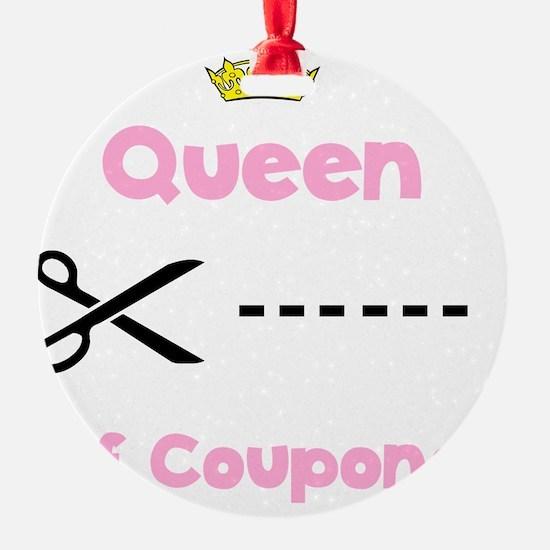 Coupon Queen Black Ornament