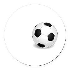 No Off Season Soccer White Round Car Magnet
