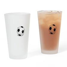 No Off Season Soccer White Drinking Glass