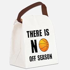 No Off Season Basketball Black Canvas Lunch Bag