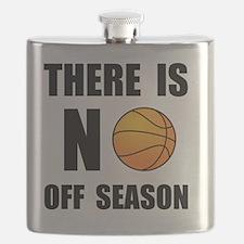No Off Season Basketball Black Flask