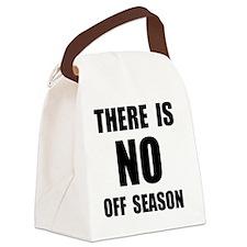 No Off Season BLack Canvas Lunch Bag