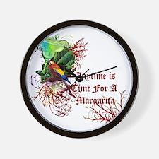 Margarita Anytime red Wall Clock