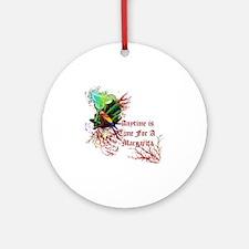 Margarita Anytime red Round Ornament