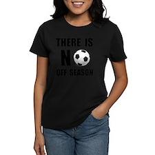 No Off Season Soccer Black Tee