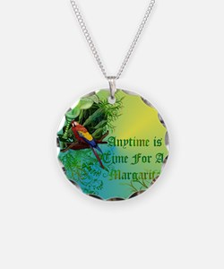 Anytime bbackground lime Necklace