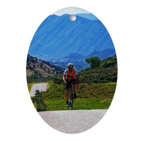 Cycling_Mountain_iPad Oval Ornament