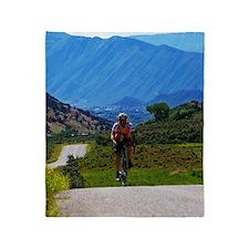 Cycling_Mountain_iPad Throw Blanket