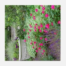 Flower Garden With Urn Tile Coaster