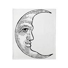 vintage-crescent-moon Throw Blanket