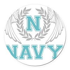 navy2 Round Car Magnet
