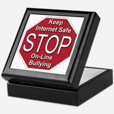 stop_on-line_bullying_transparent Keepsake Box
