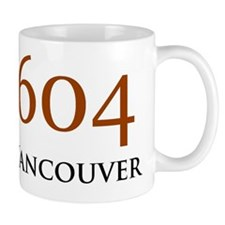 604 Area Codes Base Mug
