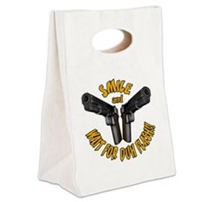 waitflash_blk Canvas Lunch Tote