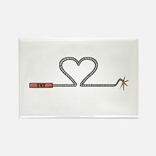 Heart TNT Fuse Rectangle Magnet