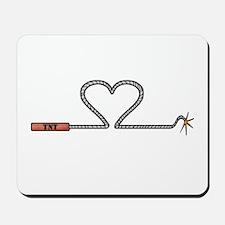 Heart TNT Fuse Mousepad