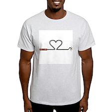 Heart TNT Fuse Ash Grey T-Shirt