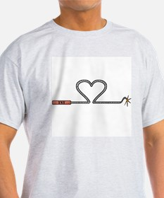 Heart TNT Fuse Ash Grey T-Shirt