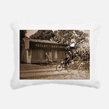 Harley Shop Rectangular Canvas Pillow