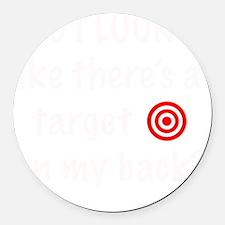 targetFrontDk Round Car Magnet