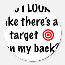 targetFront Round Car Magnet