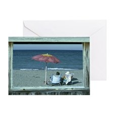 Out at the Beach Greeting Card
