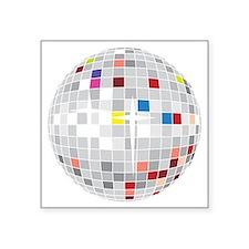 """discoball1 Square Sticker 3"""" x 3"""""""
