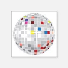 "discoball1 Square Sticker 3"" x 3"""
