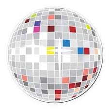 discoball1 Round Car Magnet
