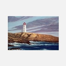Peggys Cove Lighthouse png Rectangle Magnet