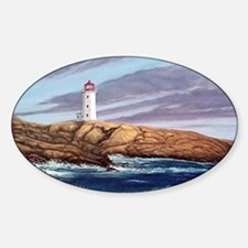 Peggys Cove Lighthouse png Sticker (Oval)