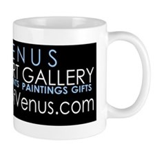ARTOFVENUSstickerblack Small Mugs