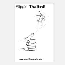 flipping the bird Postcards (Package of 8)
