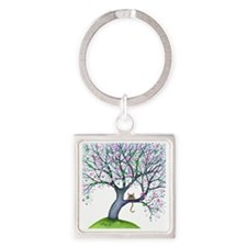 tree new york bigger Square Keychain