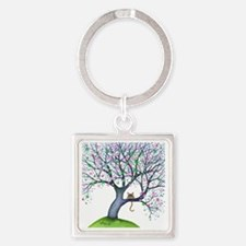 tree new york bigger Square Keychain