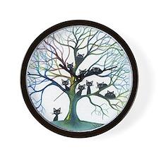 tree stray cats culpeper bigger Wall Clock