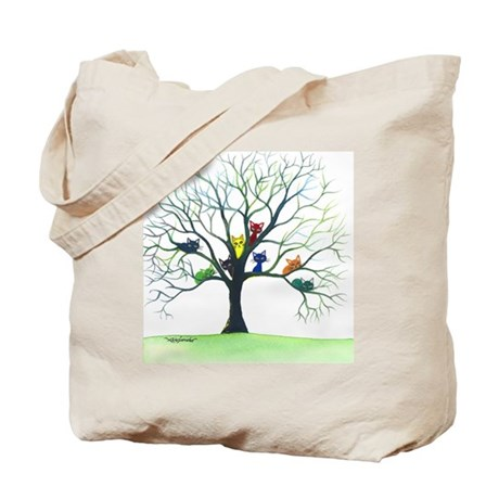 tree stray cats eau claire bigger Tote Bag