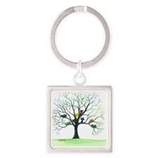 tree stray cats eau claire bigger Square Keychain