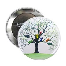 "tree stray cats eau claire bigger 2.25"" Button"