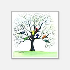 "tree stray cats eau claire  Square Sticker 3"" x 3"""