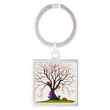 tree inglewood bigger Square Keychain