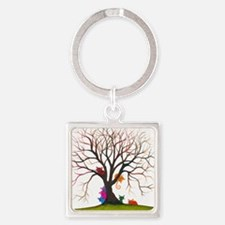 tree inglewood bigger Square Keychain