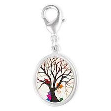 tree inglewood bigger Silver Oval Charm