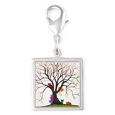 tree inglewood bigger Silver Square Charm