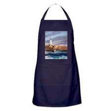 Peggys Cove Lighthouse tile coaster Apron (dark)