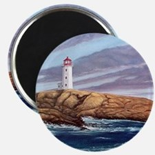Peggys Cove Lighthouse clock Magnet