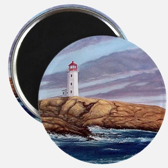 Peggys Cove Lighthouse clock Magnet