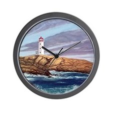 Peggys Cove Lighthouse clock Wall Clock