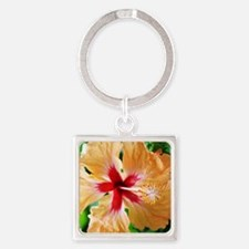 Costa_Rica_Hibiscus_iPad Square Keychain