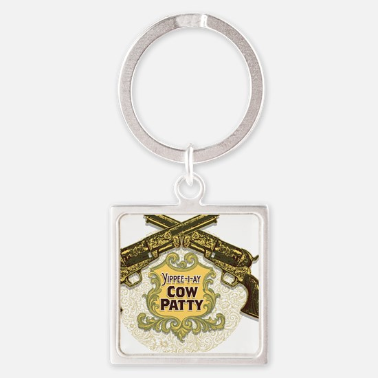 Cow Patty T-Shirt Square Keychain